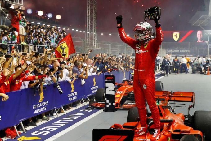 Sebastian Vettel with Ferrari