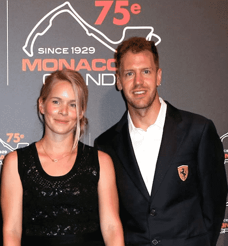 Sebastian Vettel with his wife
