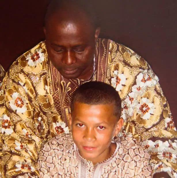 Dele Alli with Father Kehinde