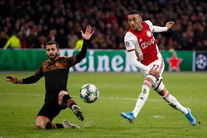 Hakim Ziyech football career with AFC Ajax 2019-20 season