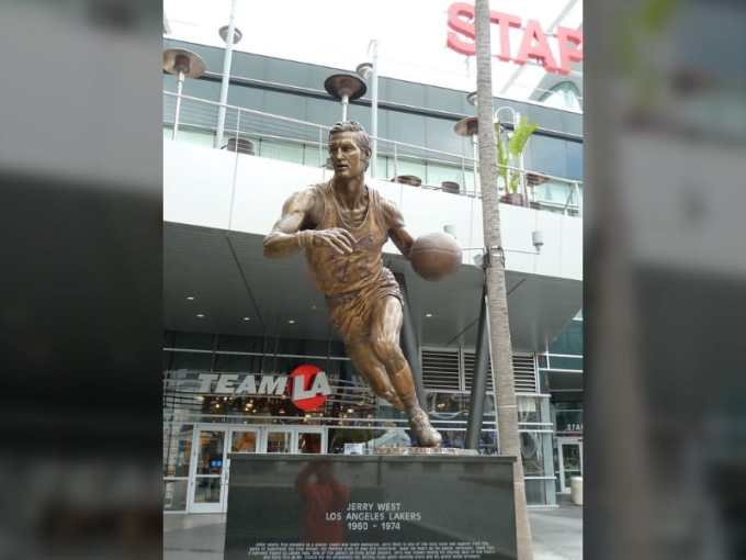 Jerry West's Statue at Staples Center