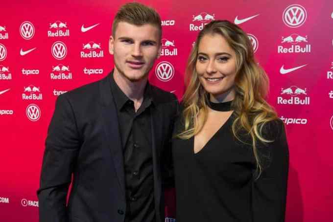 Timo Werner with girlfriend Julia Nagler