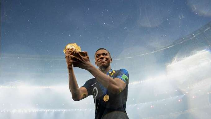 Kylian Mbappe with France World Cup 2018