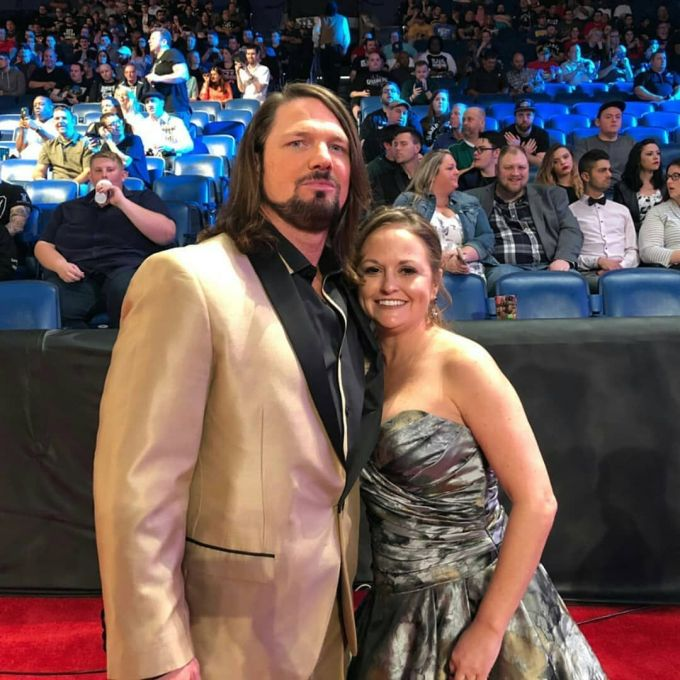 WWE Superstar AJ Styles with his wife Wendy Jones