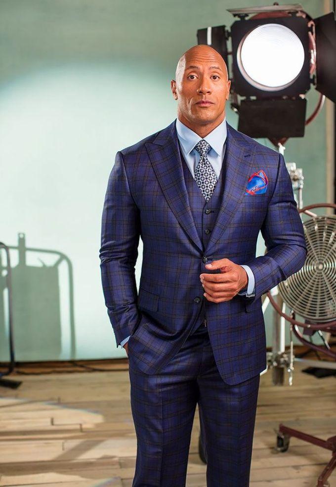 Dwayne Johnson Custom Suit