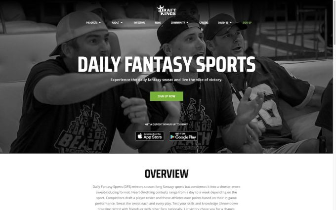 DraftKings Daily Fantasy Sports