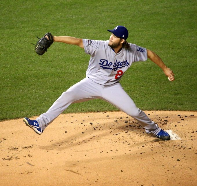 Clayton Kershaw with the Dodgers in 2016