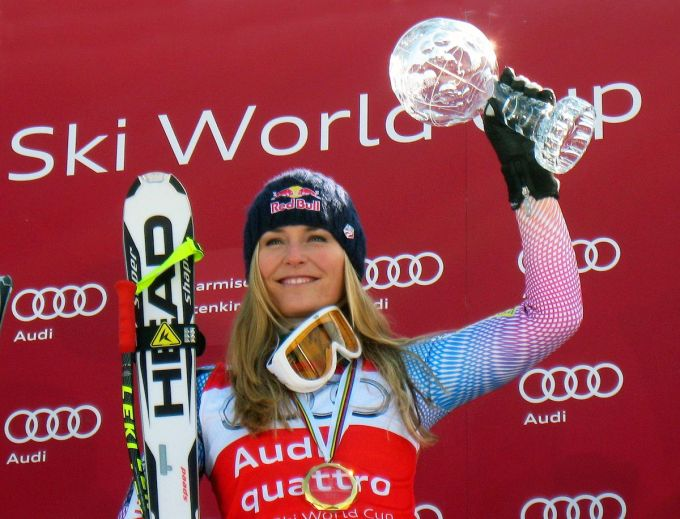 Lindsey Vonn wins World Cup Downhill 2010