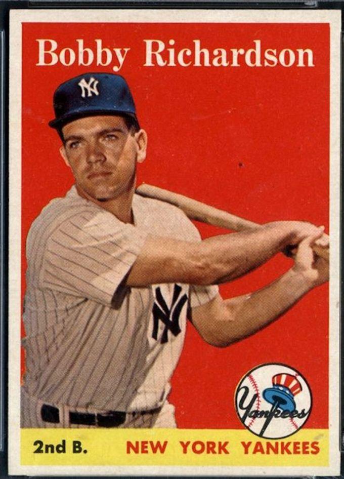 1958 Topps Bobby Richardson Card White Name