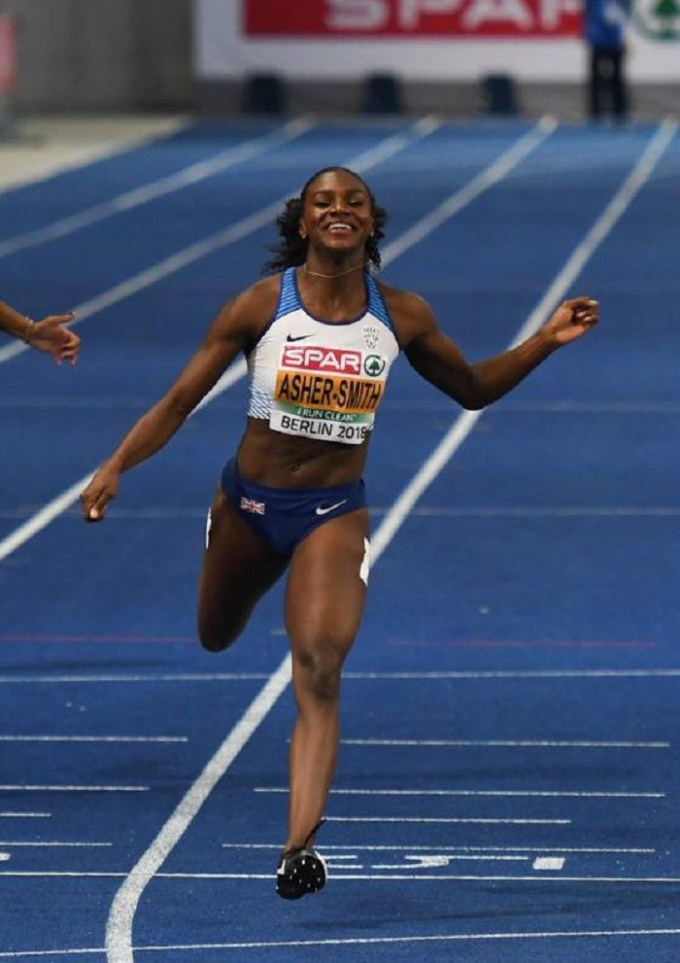 Dina Asher-Smith in 2018 at the European Championships