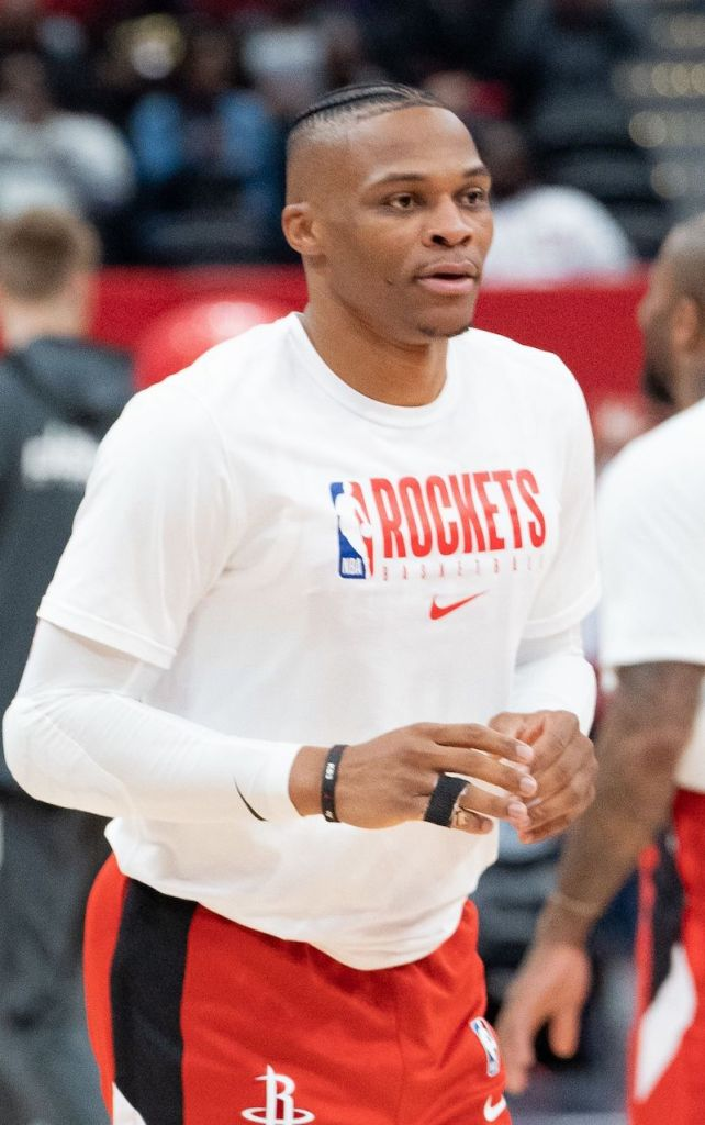 Russell Westbrook with the Rockets