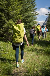 hiking, backpack, mountains