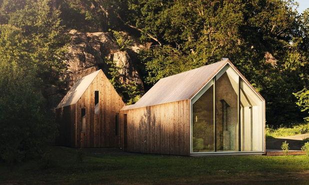 Un proiect ce reuneste 3 cabane de lemn pentru vacantele unei familii de 2 generatii