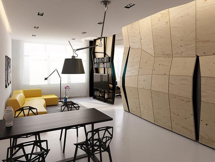 O separatie de camera ca in filme: apartamentul Transformers, Moscova