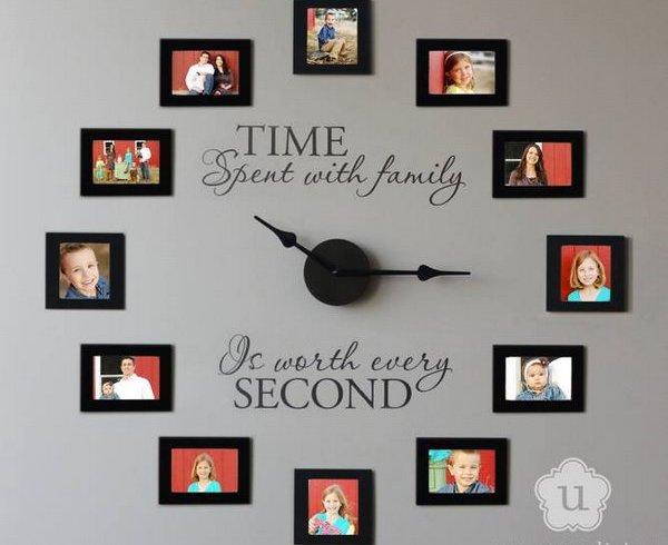 Ceas de perete handmade - trei idei pentru acasa