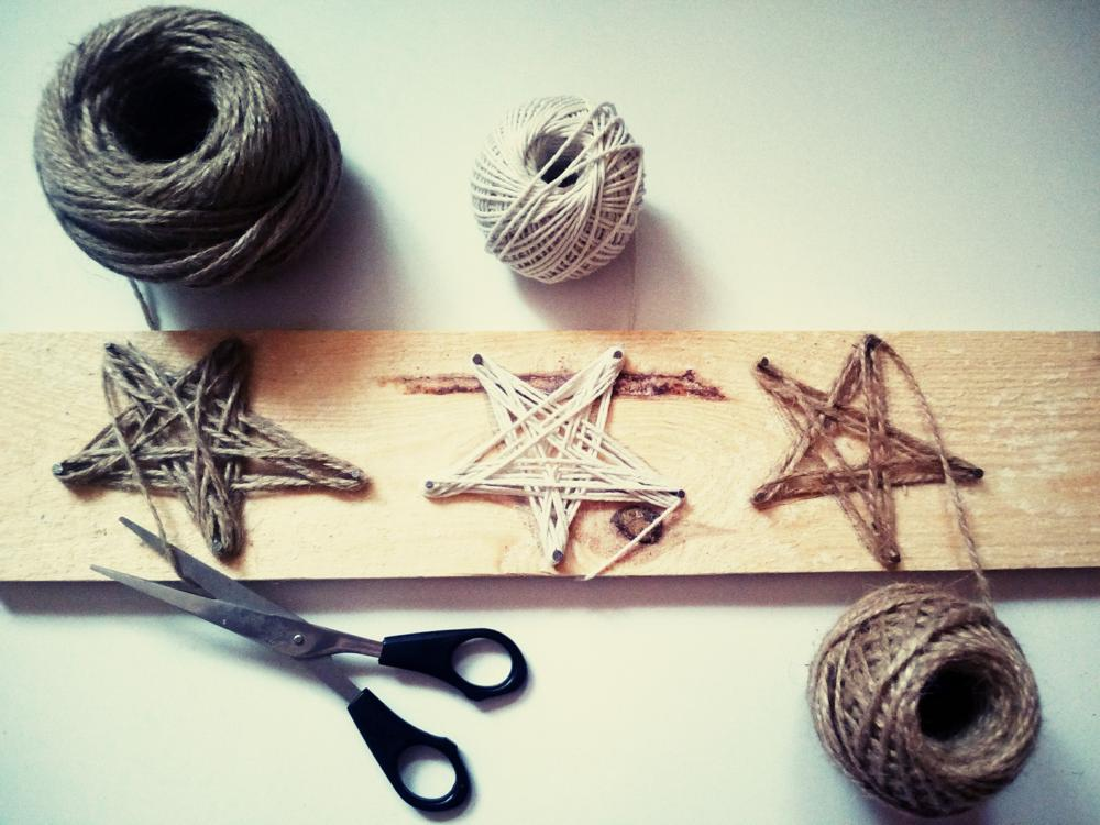 Decoraţiuni DIY: Steluţe din sfoară