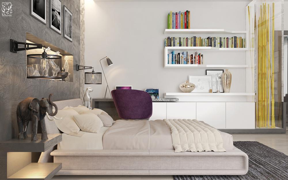 Dormitor cu bibliotecă: 7 amenajări inspiraționale pentru cei cărora le place să doarmă alături de cărțile lor