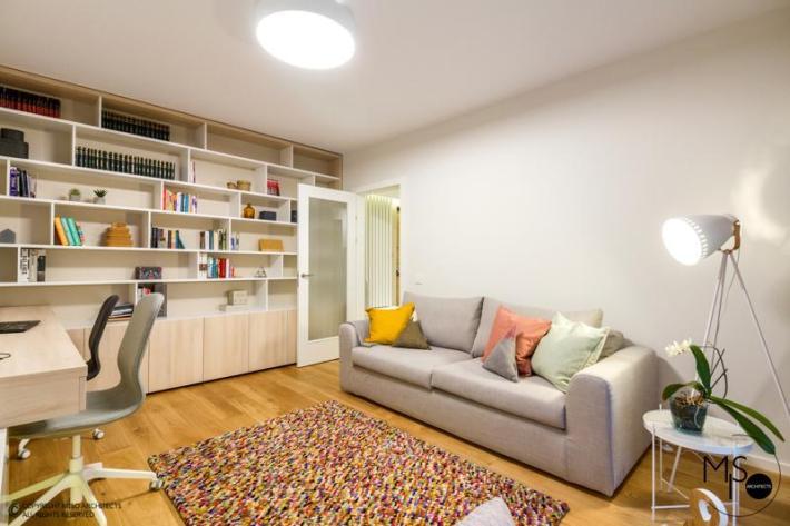 Miso Architects amenajare moderna apartament Bucuresti birou 2