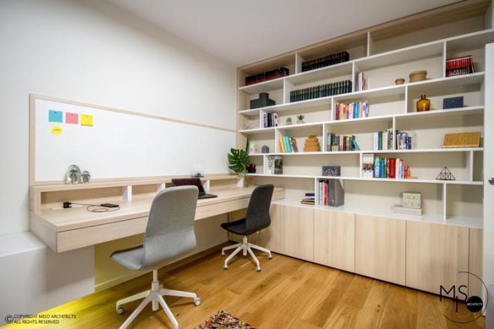 Miso Architects amenajare moderna apartament Bucuresti birou 3
