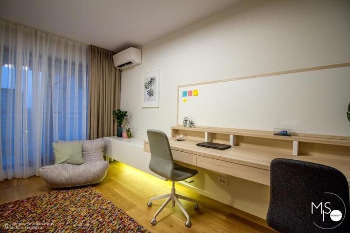 Miso Architects amenajare moderna apartament Bucuresti birou 4
