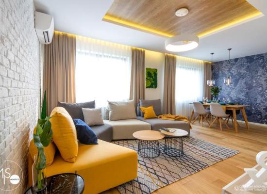 Amenajare luminoasă a unui apartament din București. Apartament LED de MISO Architects.
