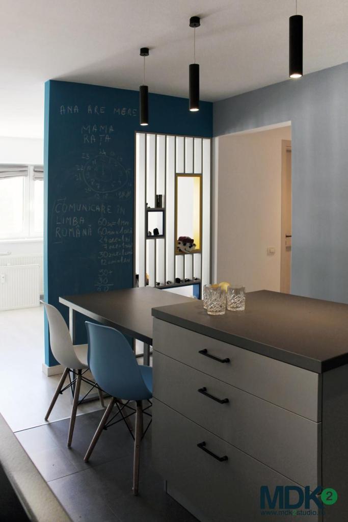 apartament plin de culoare bucuresti mdk2 studio living insula