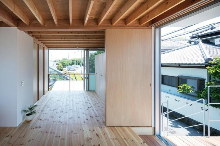 Casa pe cadre de lemn japonia dormitor etaj