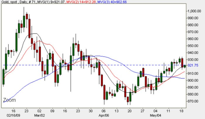 Gold Price Chart - Daily Gold Prices 19th May 2009
