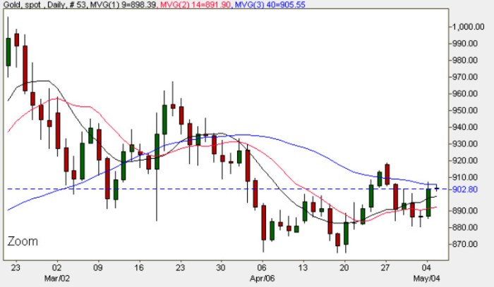 Gold Spot Price Chart - Daily Gold Prices 5th May 2009