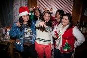 Students decked out in ugly sweaters for Christmas
