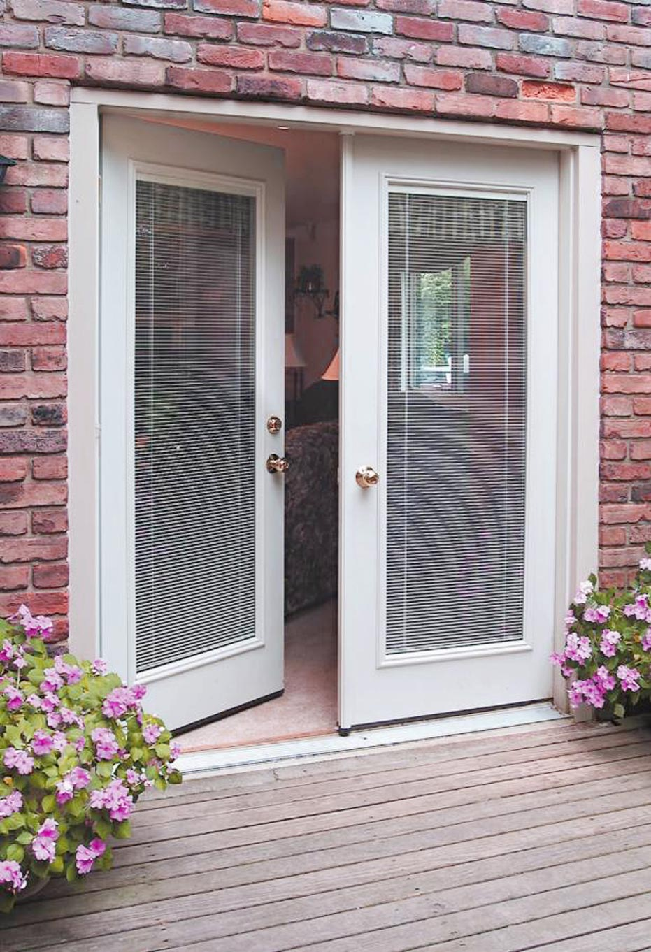 French Patio Doors With Built In Blinds 7 Spotlats Org