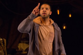 Romell Witherspoon as Rosencrantz in R&G. Photo by Teresa Wood.