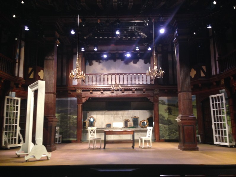 The set for Sense & Sensibility in the Folger Theatre.