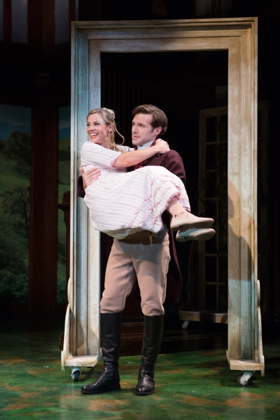 Erin Weaver as Marianne Dashwood and Jacob Fishel as John Willoughby.