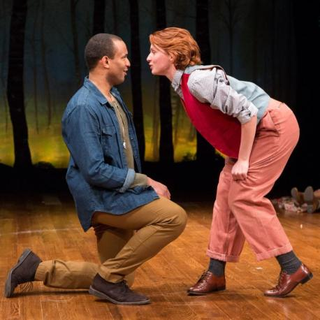Orlando (Lorenzo Roberts) and Rosalind (Lindsay Alexandra Carter), As You Like It, 2017. Photo: Teresa Wood.