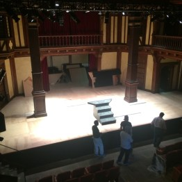 The bare stage before load-in, Timon of Athens, 2017.