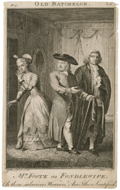 Mr. Foote as Fondlewife in Congreve's The Old Bachelor: Oh thou salacious woman... by J.J. Barralet, Folger Shakespeare Library