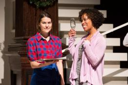 Ashley Austin Morris (Waitress) and Erica Dorfler (Katrina), The Way of the World, 2017. Photo: Teresa Wood.