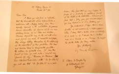 A letter written by George Bernard Shaw.