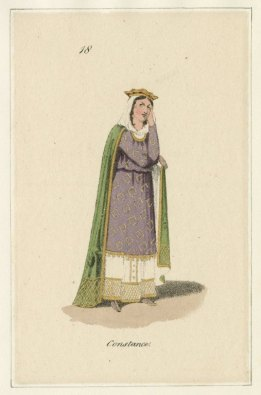 Constance, from costume design for King John, Published by John Miller, 1823. Folger Shakespeare Library.