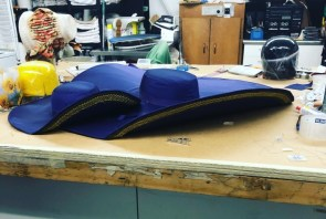 The hat is almost complete