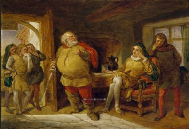 Falstaff at the Boar's Head Inn. Oil on canvas, ca. 1840. Call number: FPa81. Folger Shakespeare Library.