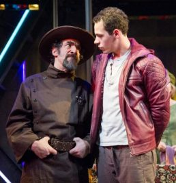 Sheriff (U. Jonathan Toppo) and Hal (Avery Whitted). 1 Henry IV, Folger Theatre, 2019. Photo: C. Stanley Photography.