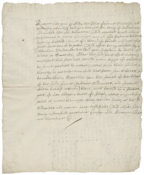 Warrant from the Middlesex Court of Quarter Sessions of the Peace for imprisonment of Joane Micholson England: [1675?] Folger Shakespeare Library: X.d.375 (30)