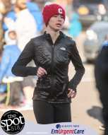 Leah Triller approaches the finish line.