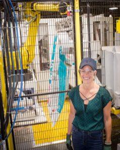 Casey Griner (Crowley), Plant Leader, Owens Corning Delmar Plant at the facility.