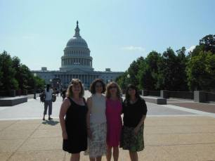 "The ""Champion"" Moms of the group in front of the U.S. Capitol."