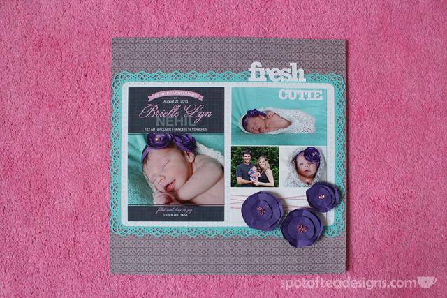Baby Scrapbook Birth Announcement   spotofteadesigns.com