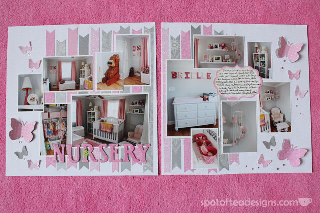 Baby Girl Scrapbook: The Nursery | spotofteadesigns.com