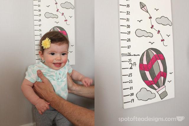 DIY Portable Growth Chart for #Baby #nursery   spotofteadesigns.com